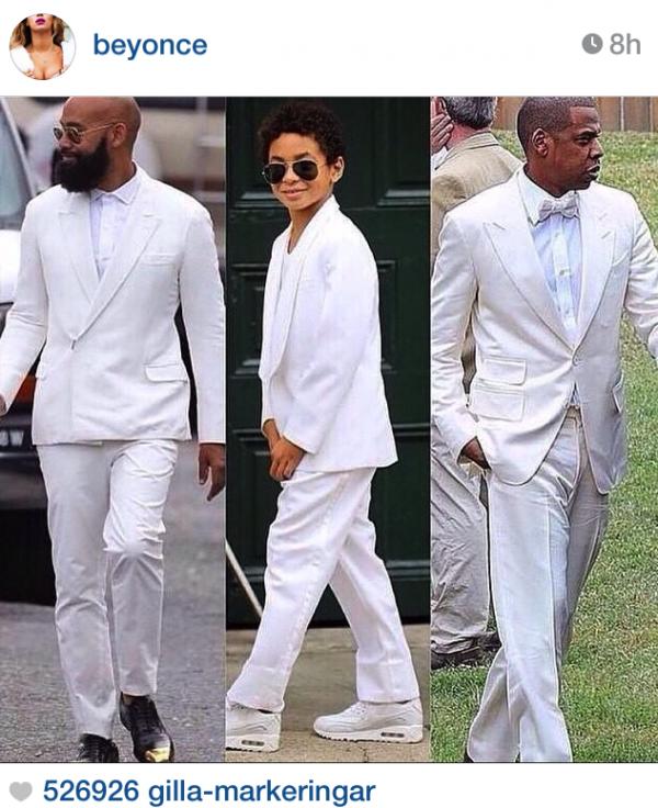 Instagram vit kostym