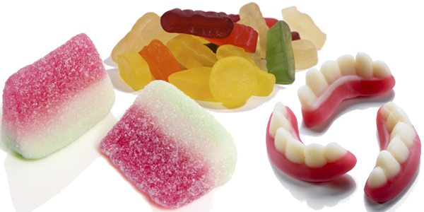 godis som innehåller gelatin