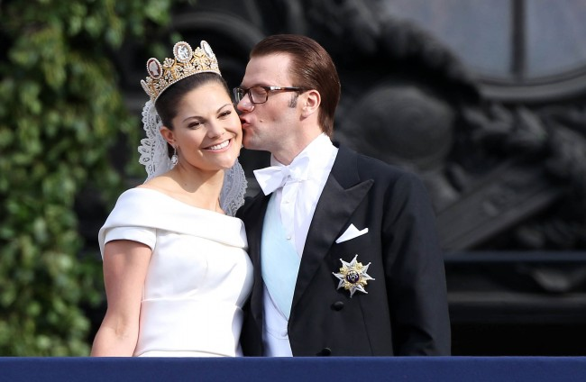 82a46f8caa59 Crown Princess Victoria and Daniel westling's wedding at Royal Palace in  Stockholm.