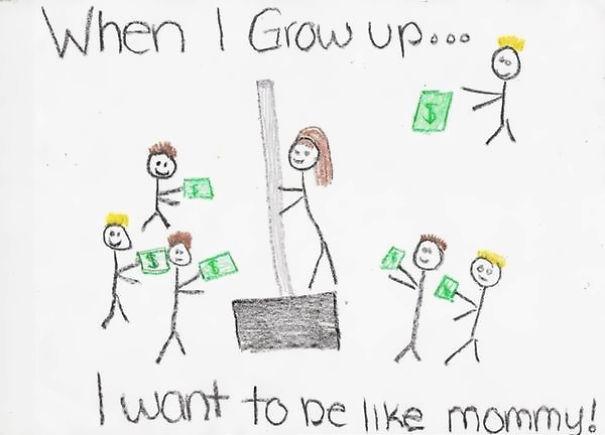 barn-teckning
