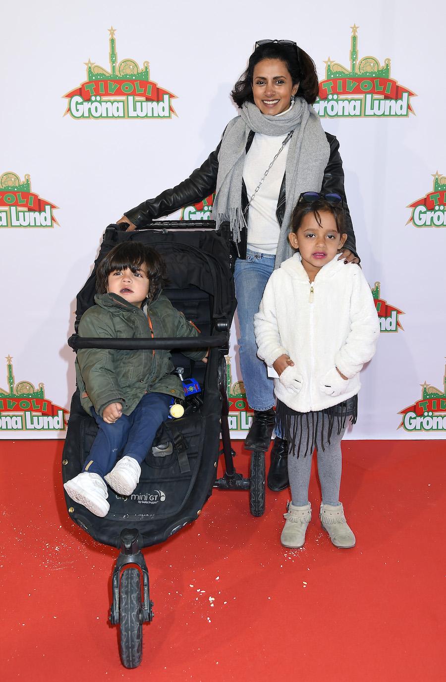 Anitha med barnen Penny och Tom-Allan