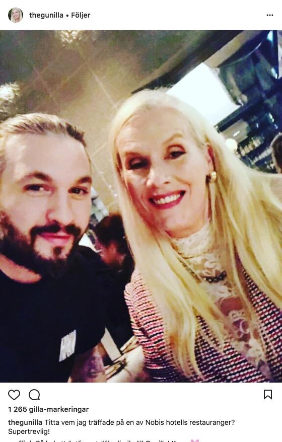 Gunilla Persson umgås med Isabel Adrians make Steve Angello