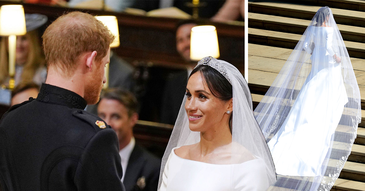 Detaljerna om Meghans klänning och prins Harrys tårdrypande