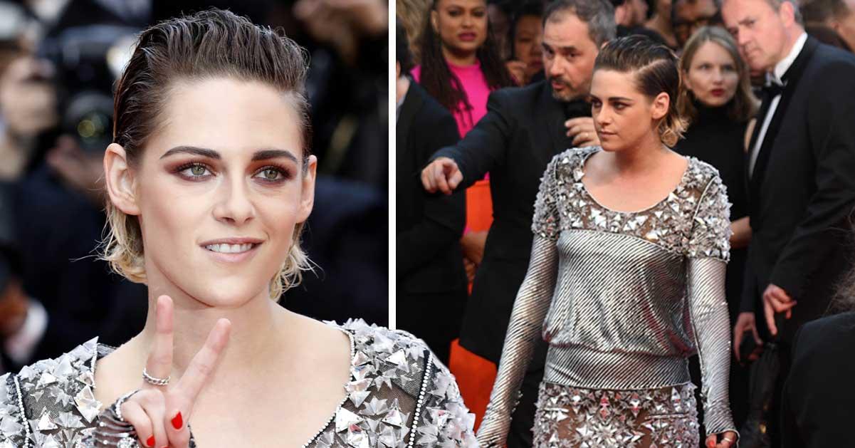 Hela världen tappade hakan  – här bryter Kristen Stewart mot regeln på galan