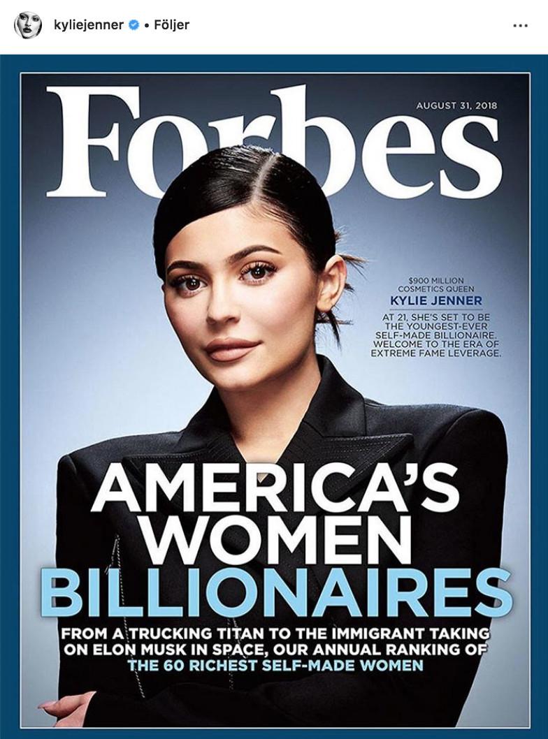 Kylie Jenner på väg att bli yngsta miljardaren.