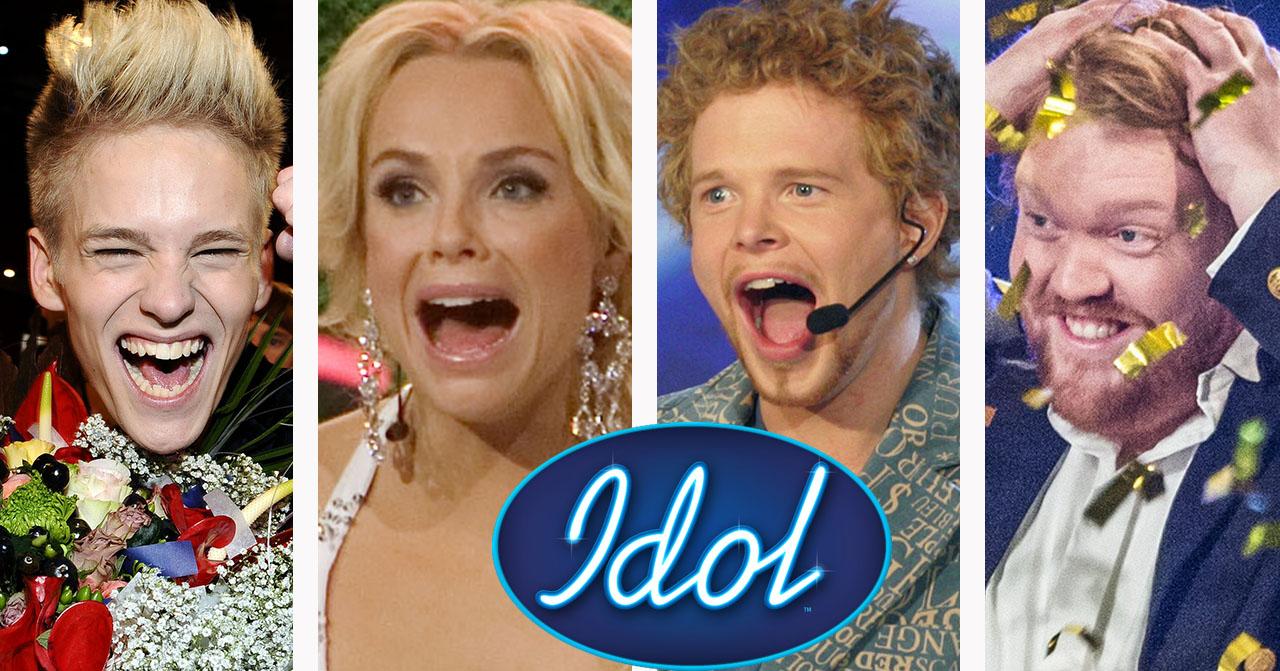 Erik Grönwall, Marie Picasso, Daniel Lindström och Martin Almgren har alla vunnit Idol.