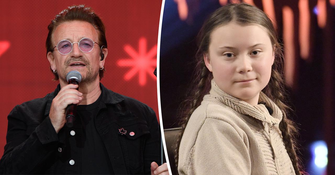 Greta Thunberg hyllas av Bono