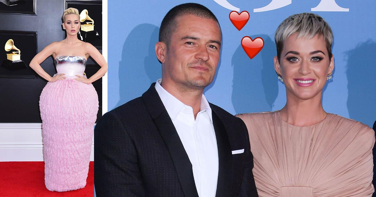 Katy Perry och Orlando Bloom ler mot kameran