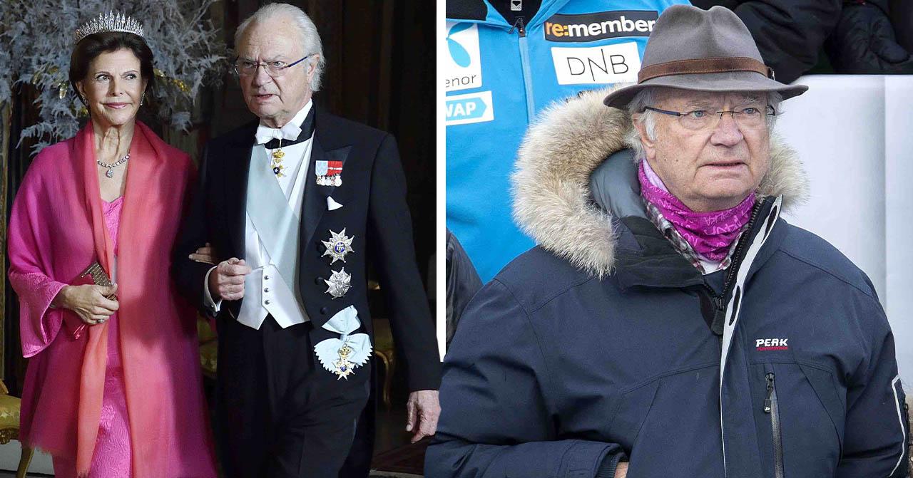 Kung Carl Gustaf med drottning Silvia