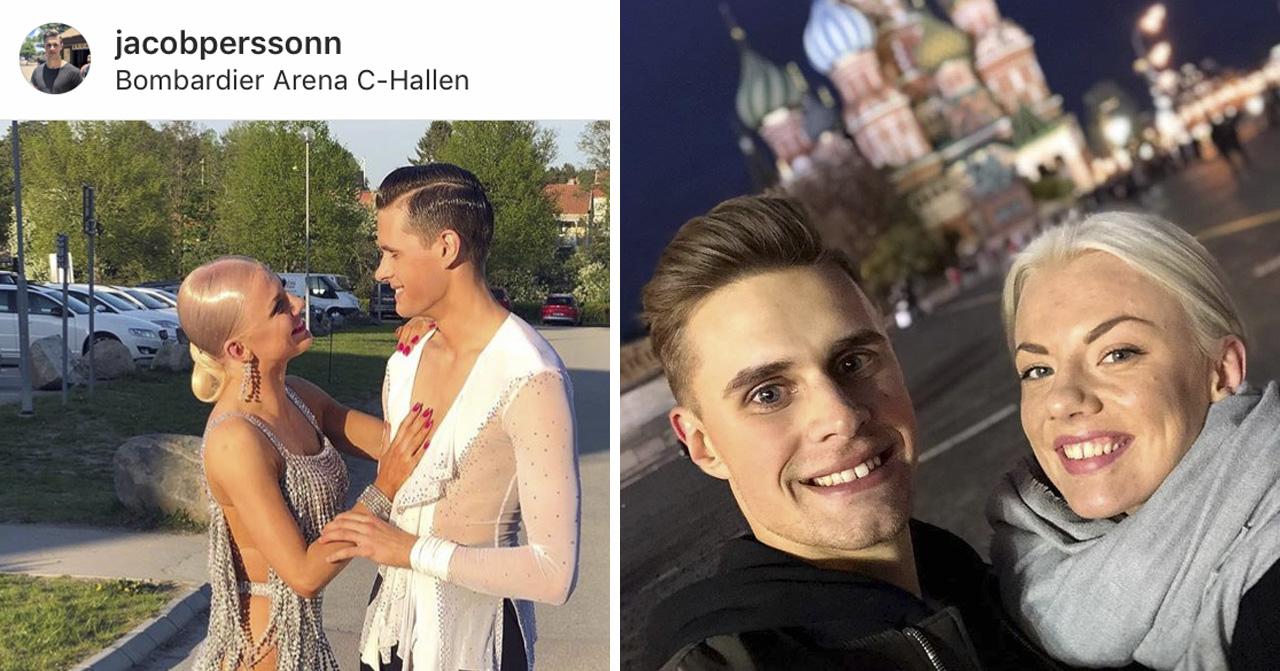 Linn Hegdal och Jacob Persson i Let's dance