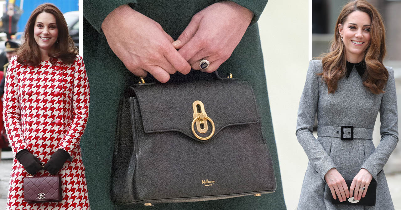 Kate Middleton håller i en väska