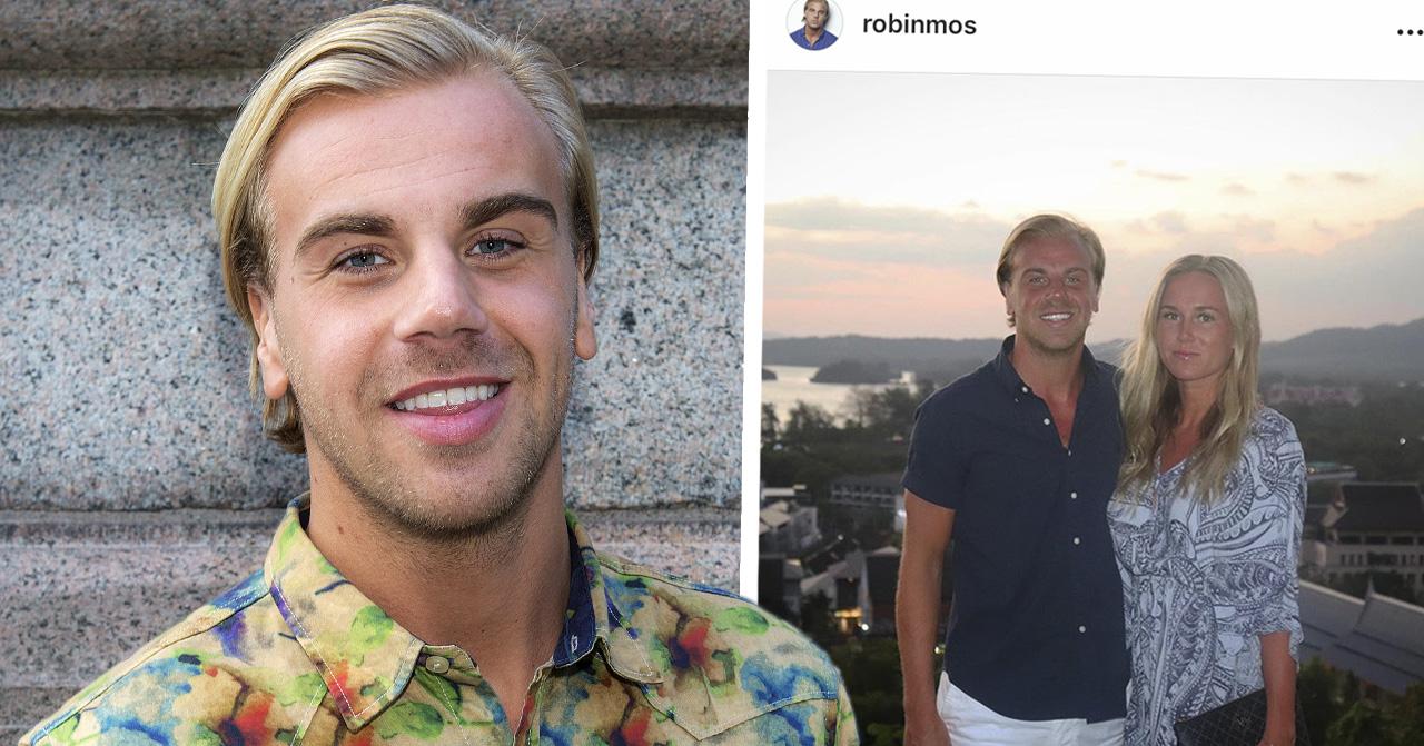 """Robin""""Mos""""Anderssons barnbesked med flickvännen Josefin Jansson."""
