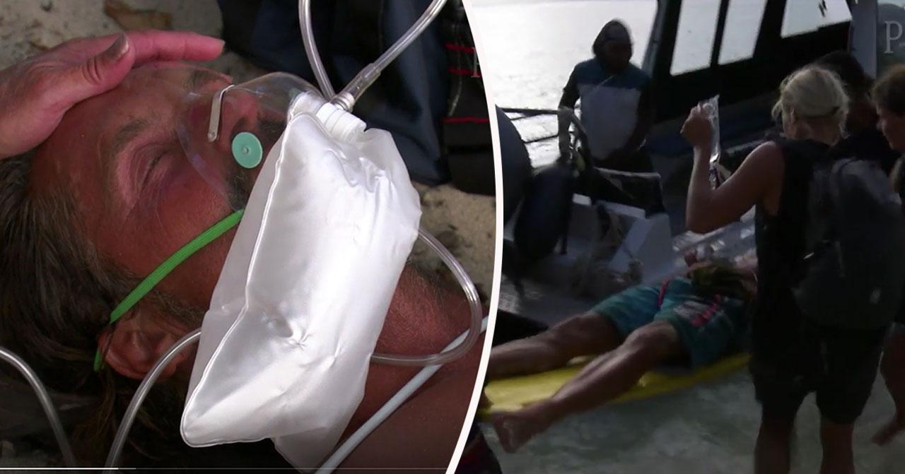 Robinson-deltagaren evakuerades akut efter smärtor i bröstet.