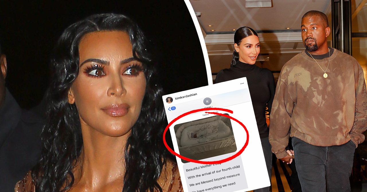 Kim Kardashians namn på fjärde barnet