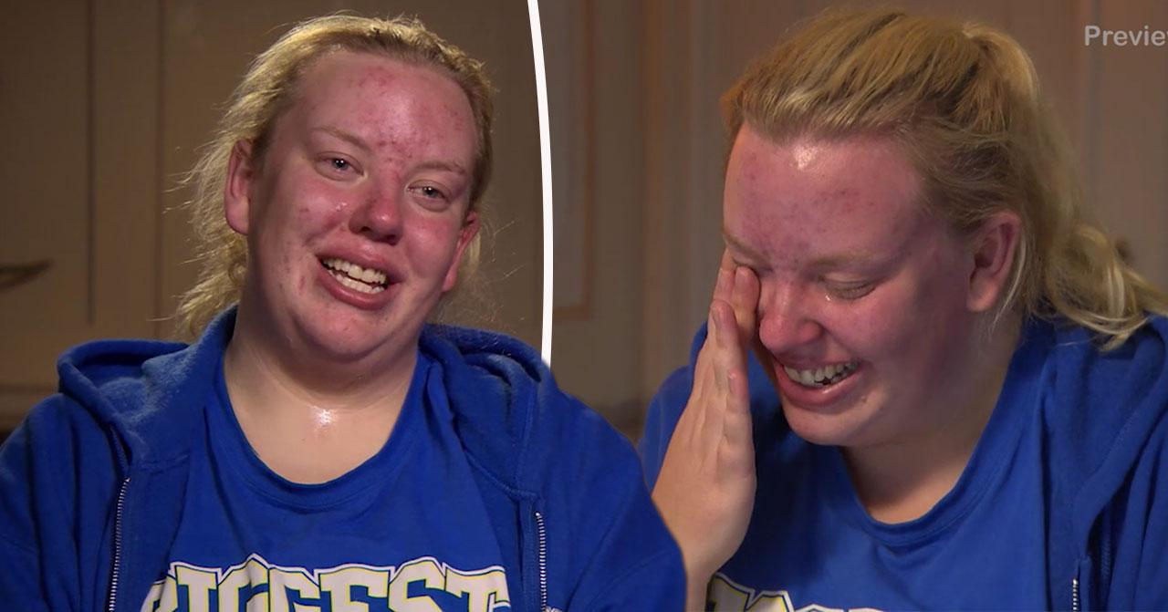 Klara Asps tårar i Biggest loser när hon får ringa hem.