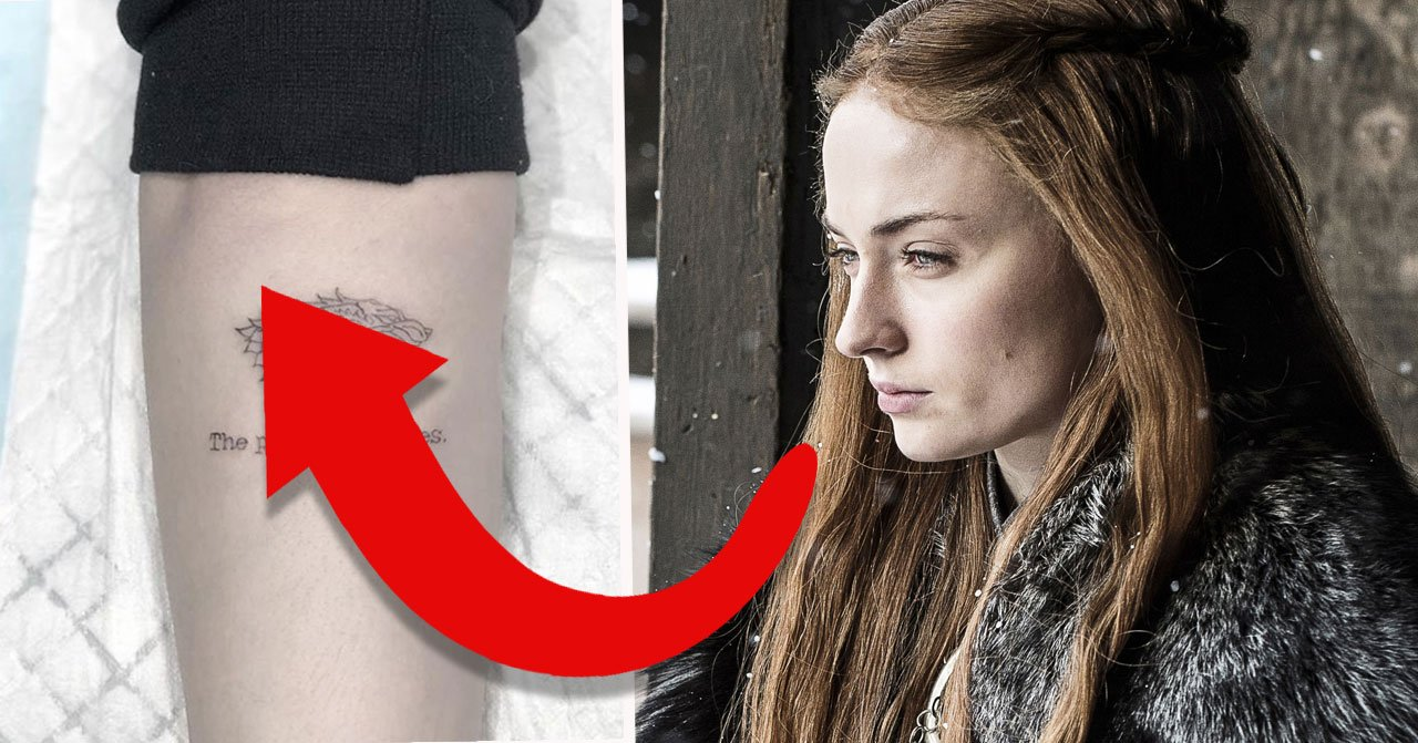 Sophie Turners Game of thrones tatuering