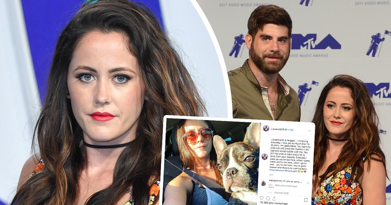 Unga tv-mamman Jenelle Evans sorg – hunden ihjälskjuten av maken David