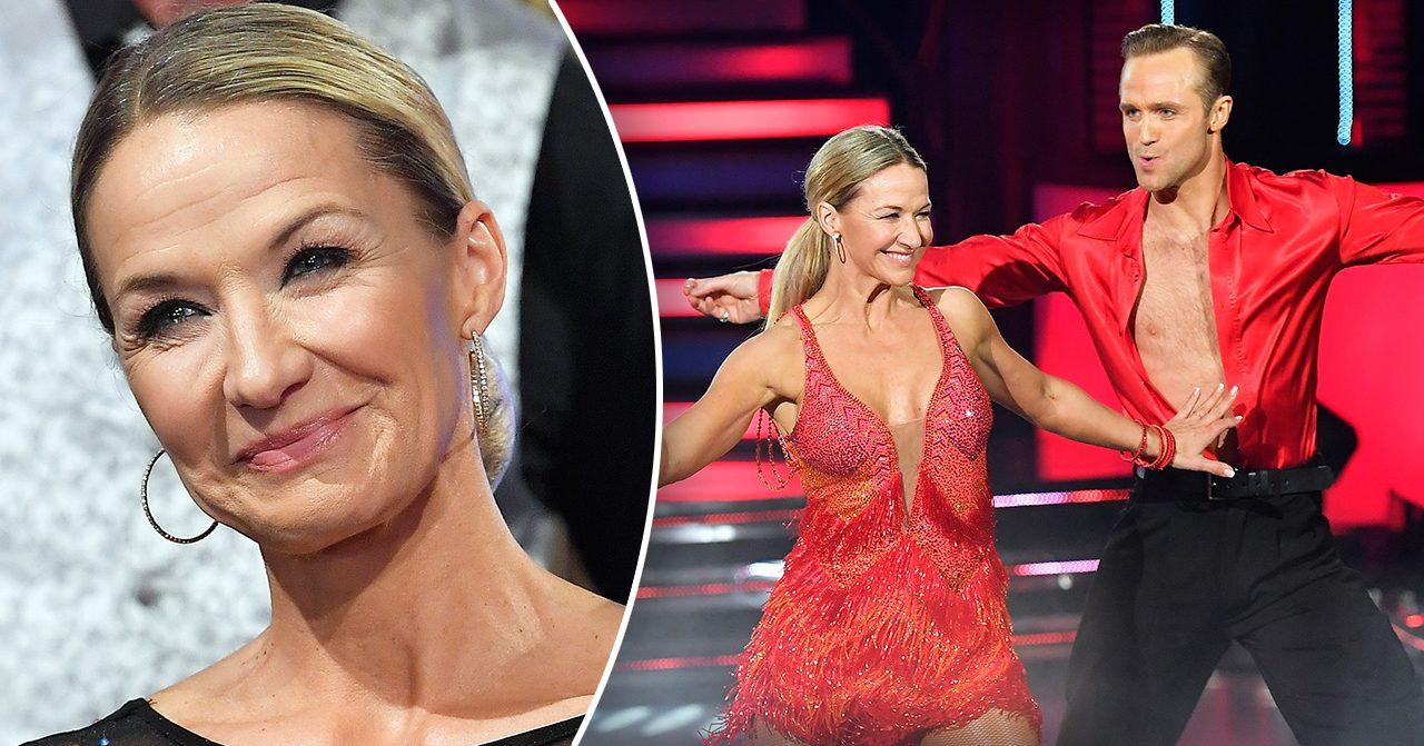 Kristin Kaspersen och Calle Sterner dansar i Let's dance