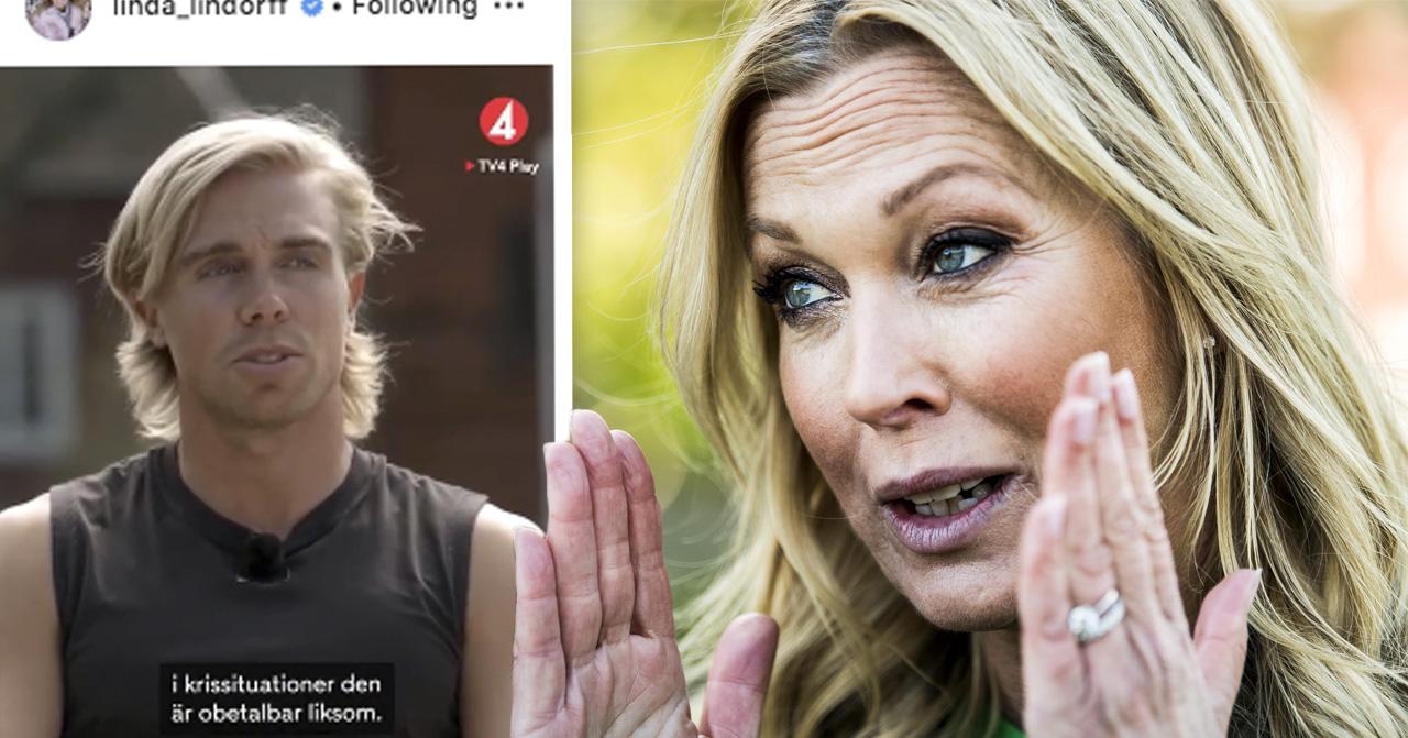 Efter nakenbilderna till hunkbonden Mattias sätter Linda Lindorff stopp i Bonde söker fru 2019.