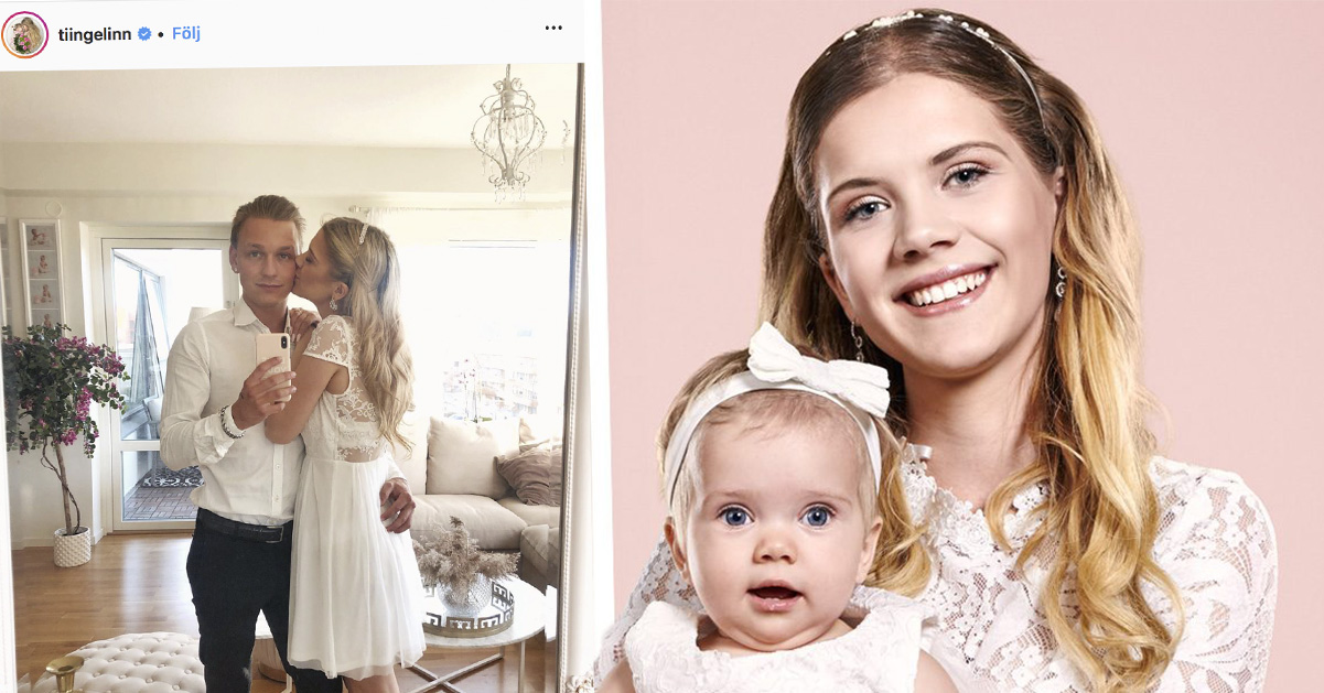 Linn Andersson från TV3:s Unga mammor har funnit kärleken i nya pojkvännen Gabriel.