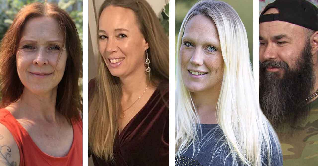 Mirka Norrström, Carola Wetterholm, Madeleine Ilmrud och Sami Nikula i Familjen annorlunda.