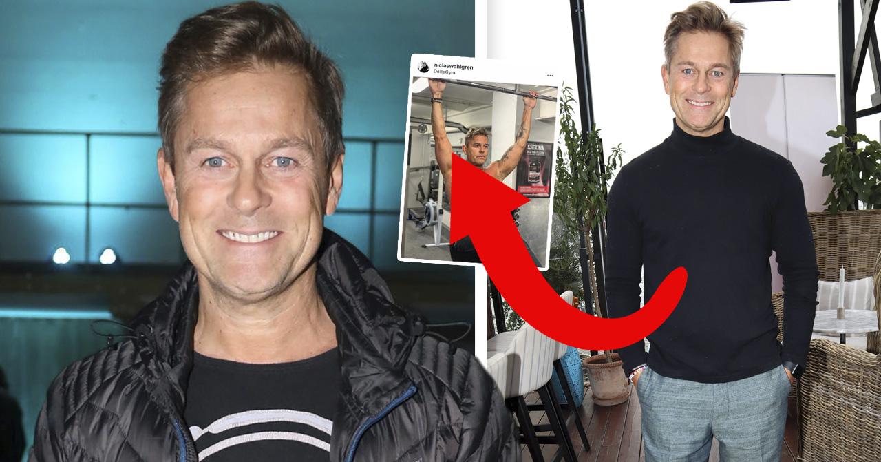 Niclas Wahlgrens följare jublar över nya bilden på hans muskulösa kropp.
