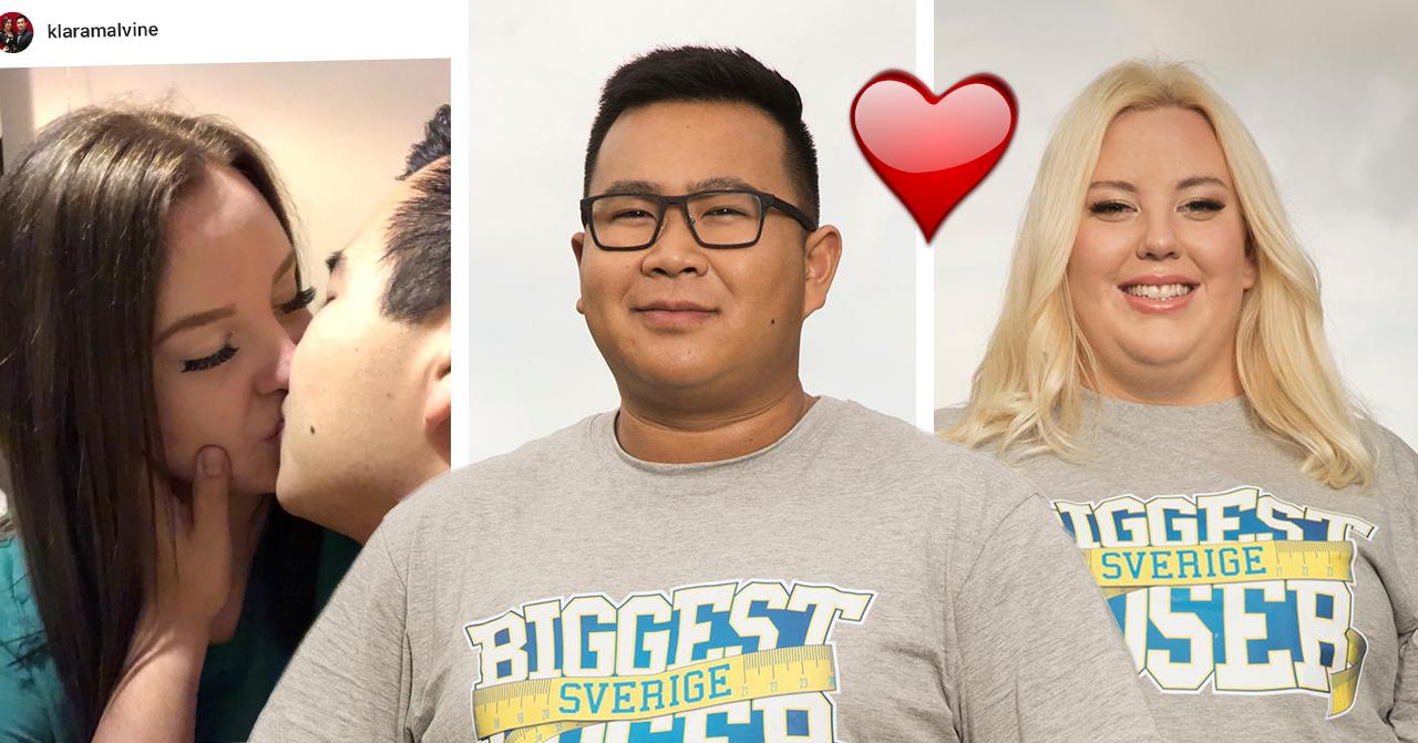 """Klara Asp och Johan """"Sune"""" Sundahl avslöjar hemliga romansen i Biggest loser: """"Jättekära"""""""
