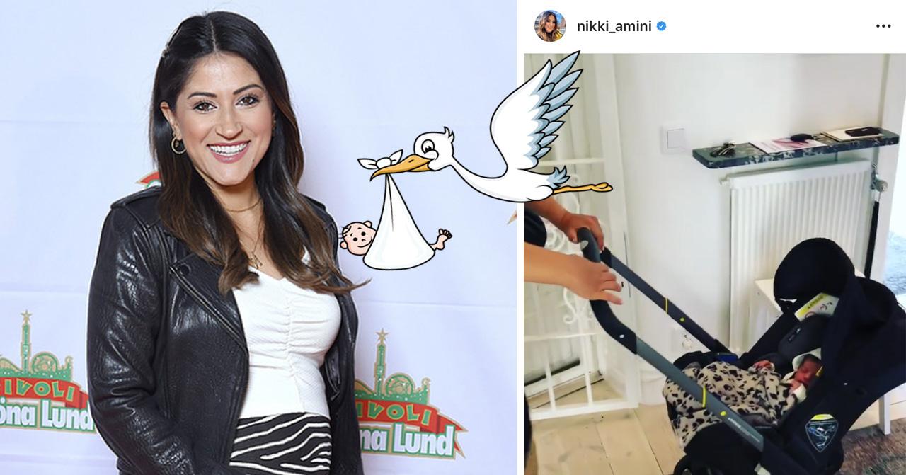 Nikki Amini har blivit mamma till dottern Nilofar.
