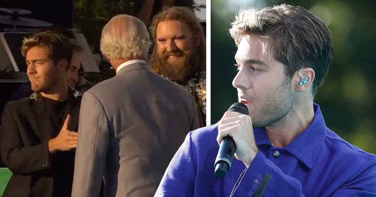 Benjamin Ingrossos miss med kungen – i SVT:s sändning