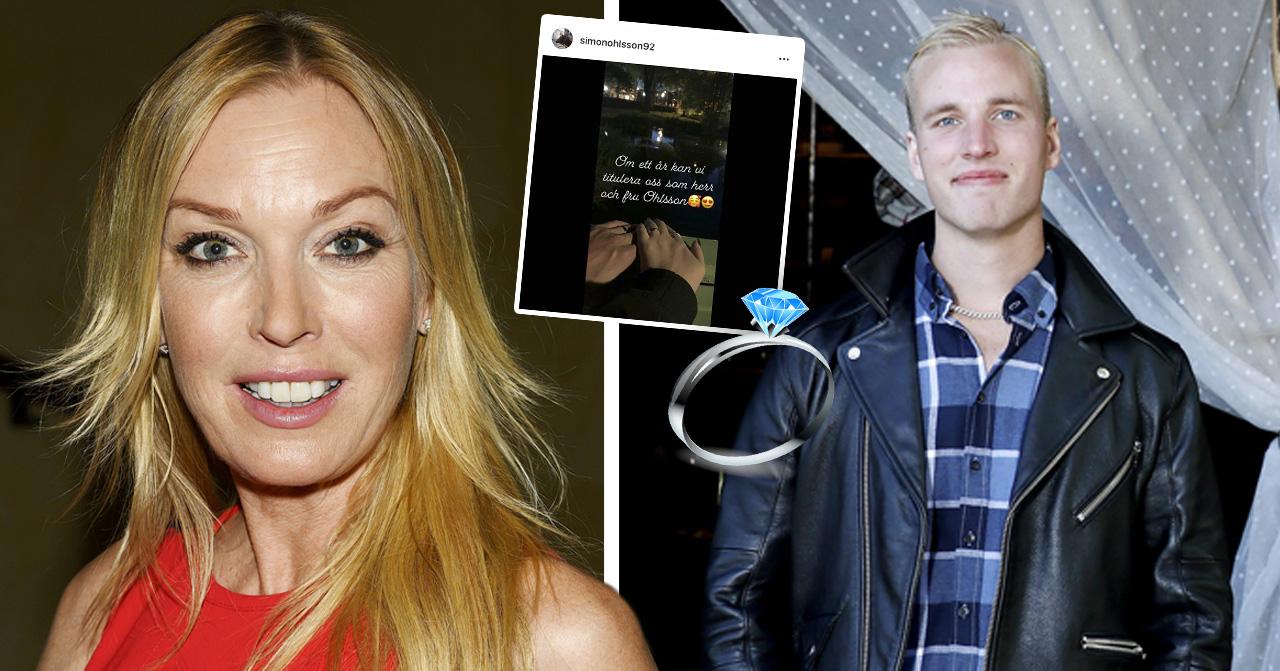 Linda Lindorff hoppas att bli bjuden på bröllopet efter Bonde söker fru-Simon Ohlssons förlovning med Amanda Håkansson.