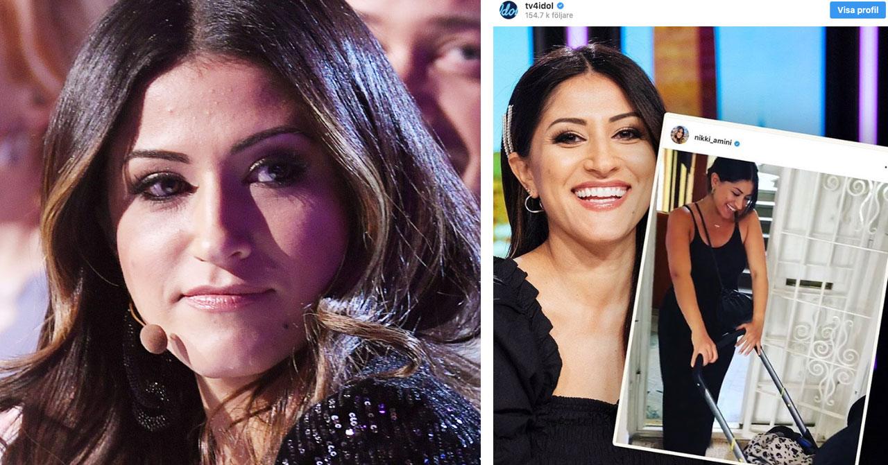 Nikki Aminis besked om Idol – efter dottern Nilos födsel