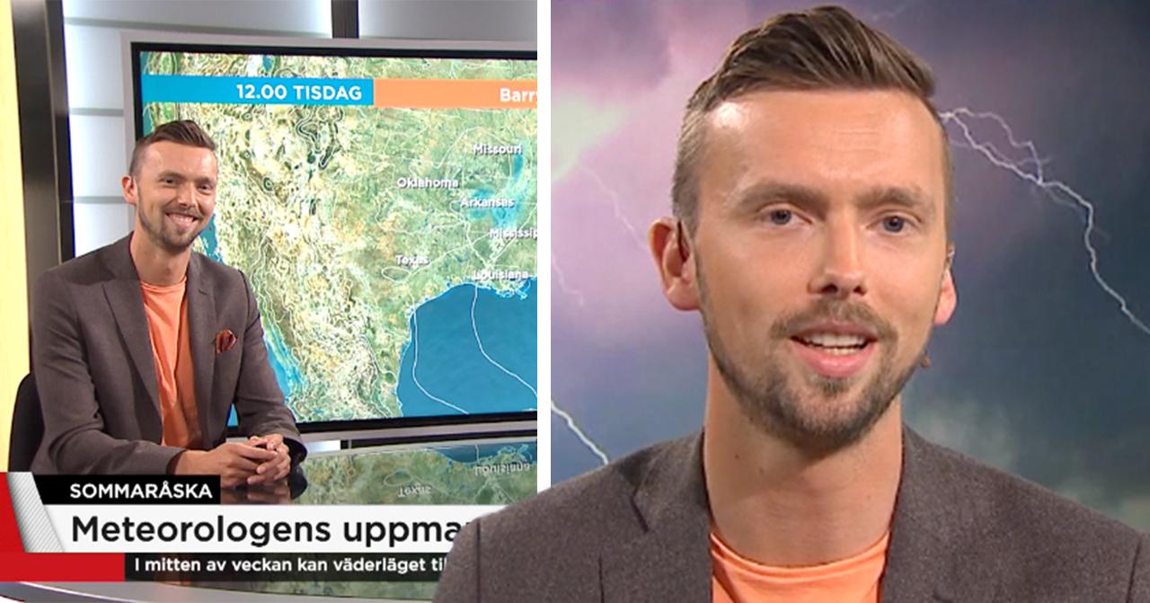 meterologen hyllas efter orden om vädret i TV4