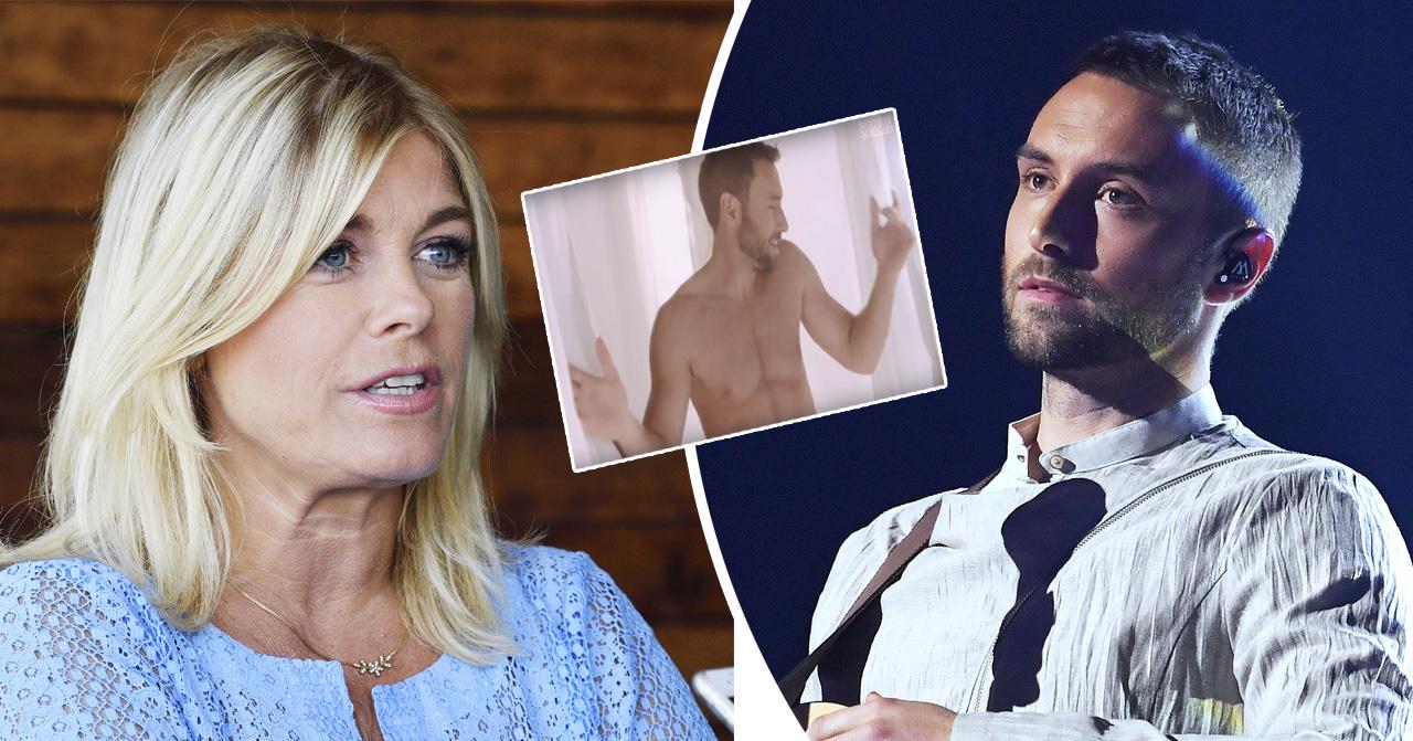 Pernilla Wahlgren om Måns Zelmerlöws nakenvideo