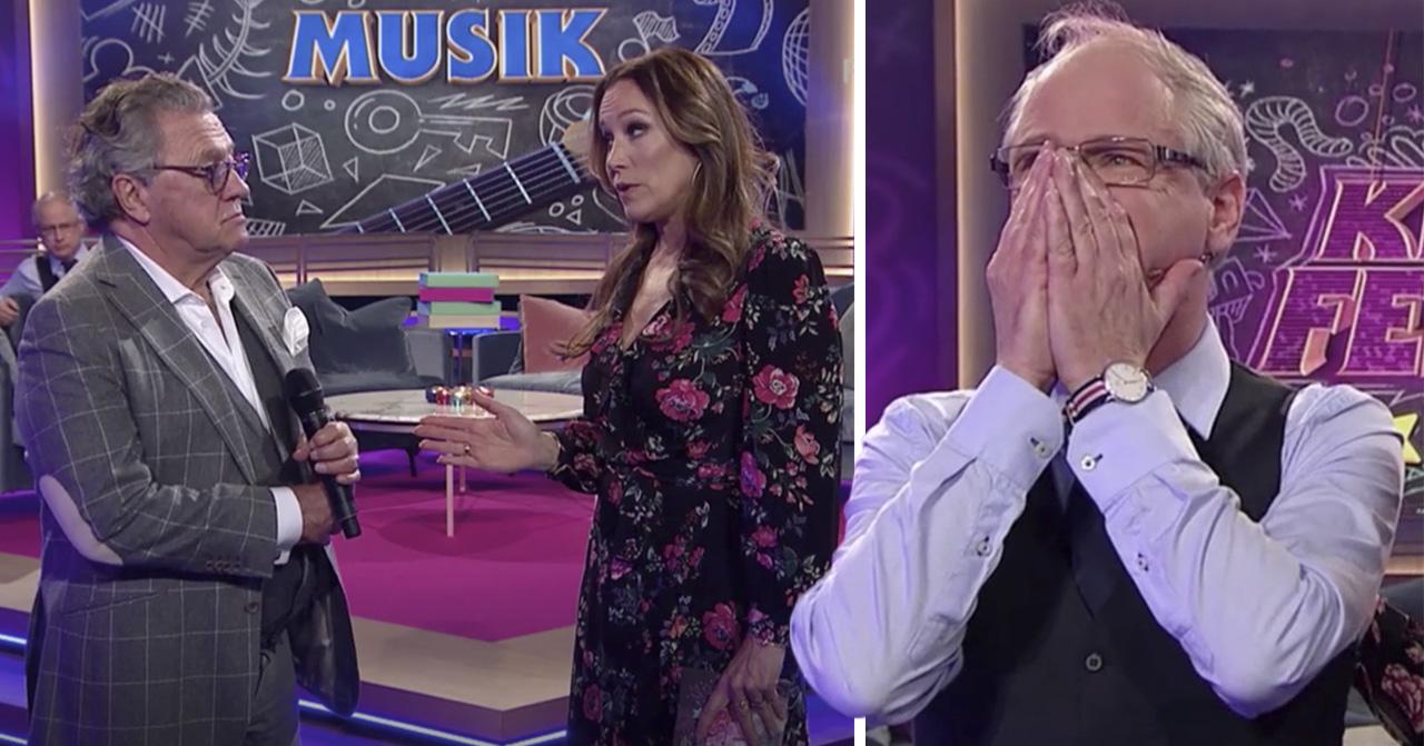 Tommy Körberg, Robert Gustafsson och Renee Nyberg i Klassfesten på TV4