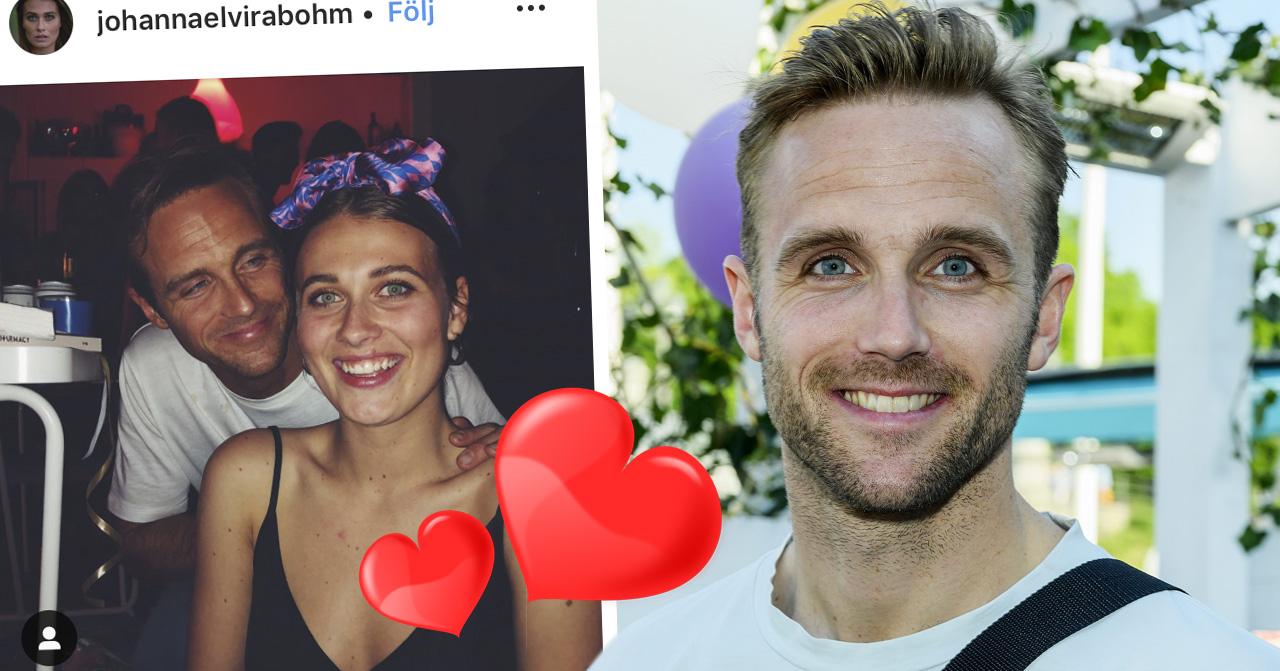 Calle Sterner och flickvännen Johanna Bohm Hermansson har blivit sambor.