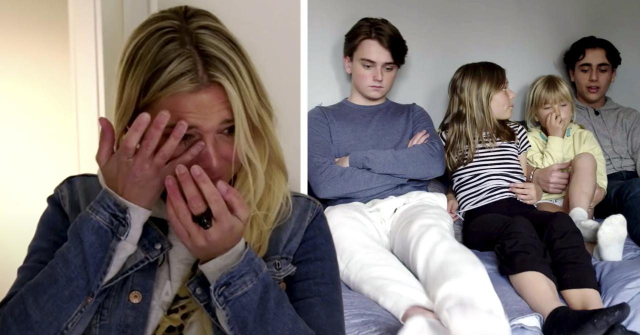 Hannah Graafs tårar efter insikten om barnen efter skilsmässan från Peter Karyd.