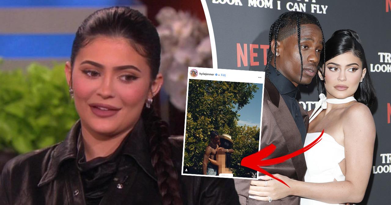 Fansen besvikna över Kylie Jenners avklädda bild med Travis Scott.