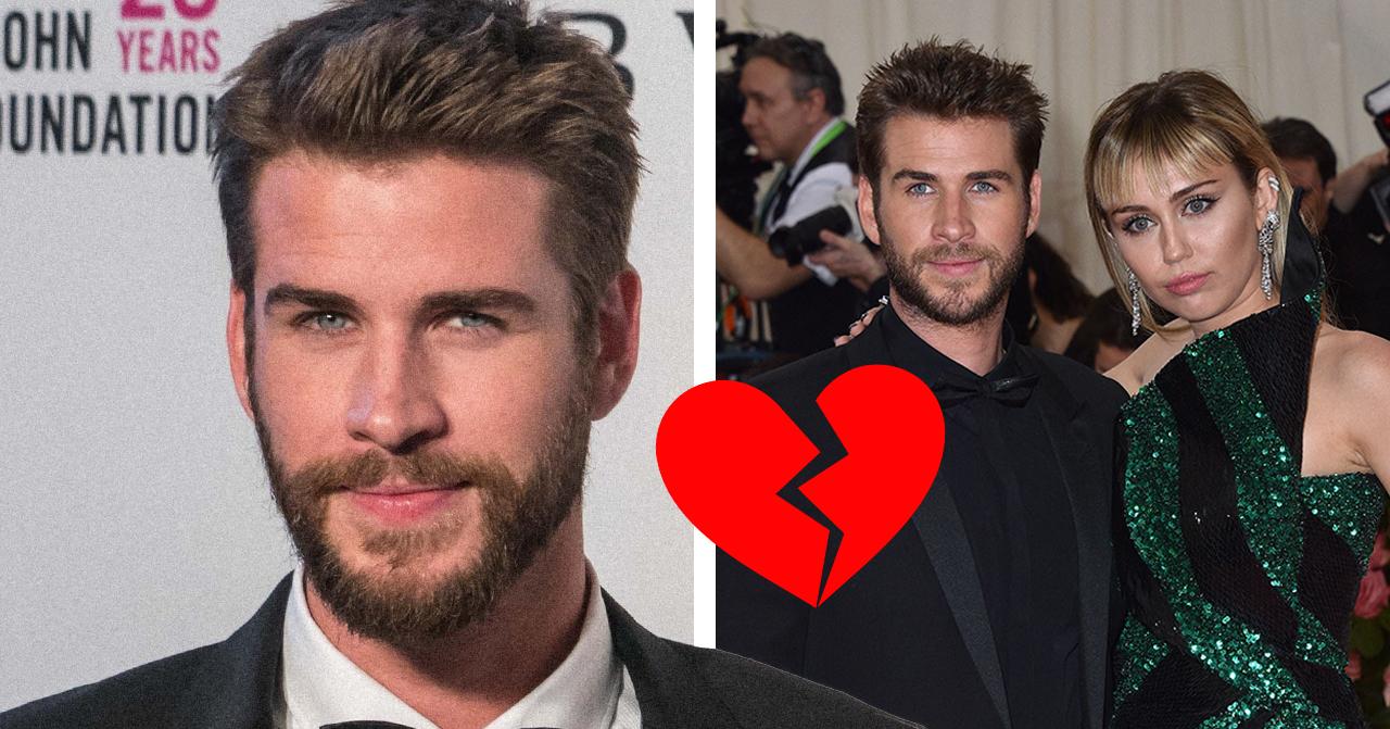 Liam Hemsworths chock: läste om sin egen skilsmässa