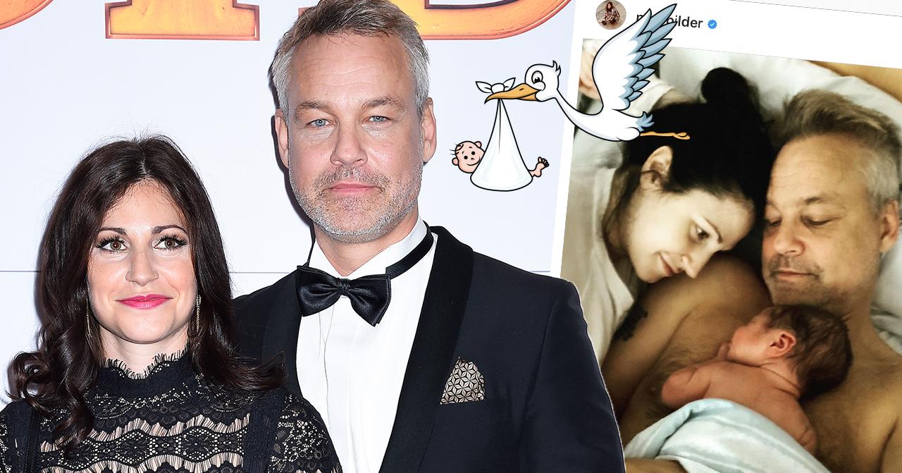 Babylycka: Nour El Refai och Henrik Schyffert har fått barn