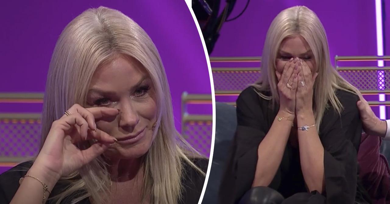 Jessica Andersson i tårar efter oväntade mötet i Klassfesten