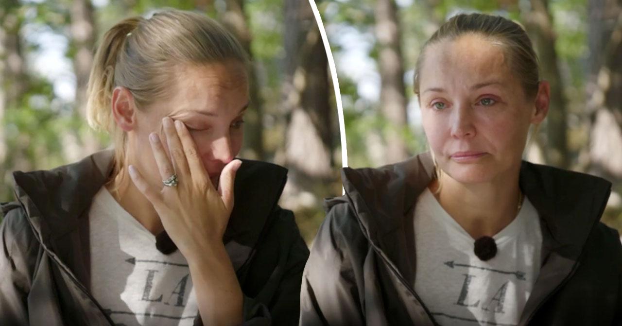 Carina Berg i tårar