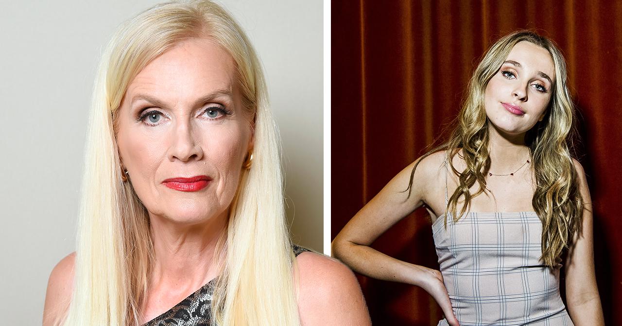 Gunilla Persson försvarar dottern Erika efter kritiken mot bilderna