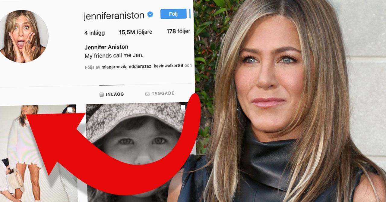 Jennifer Aniston på Instagram