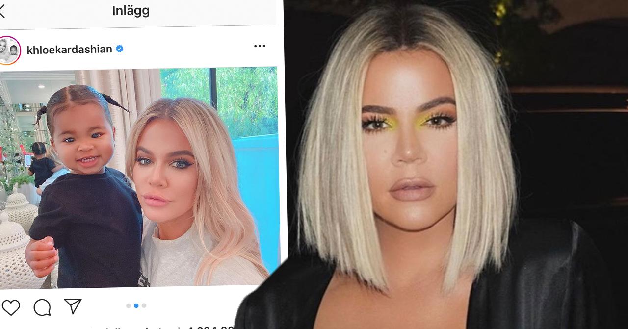 Fansens undran efter Khloé Kardashians nya bild med True