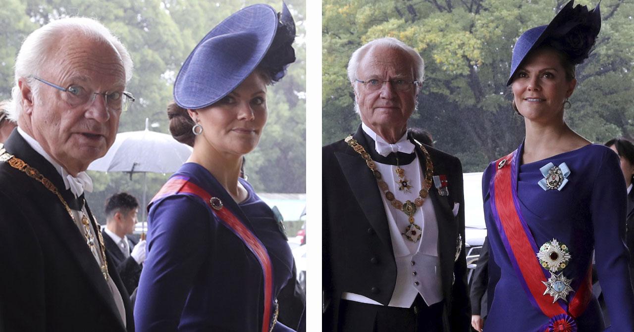 Kung Carl Gustaf och kronprinsessan Victoria i Japan