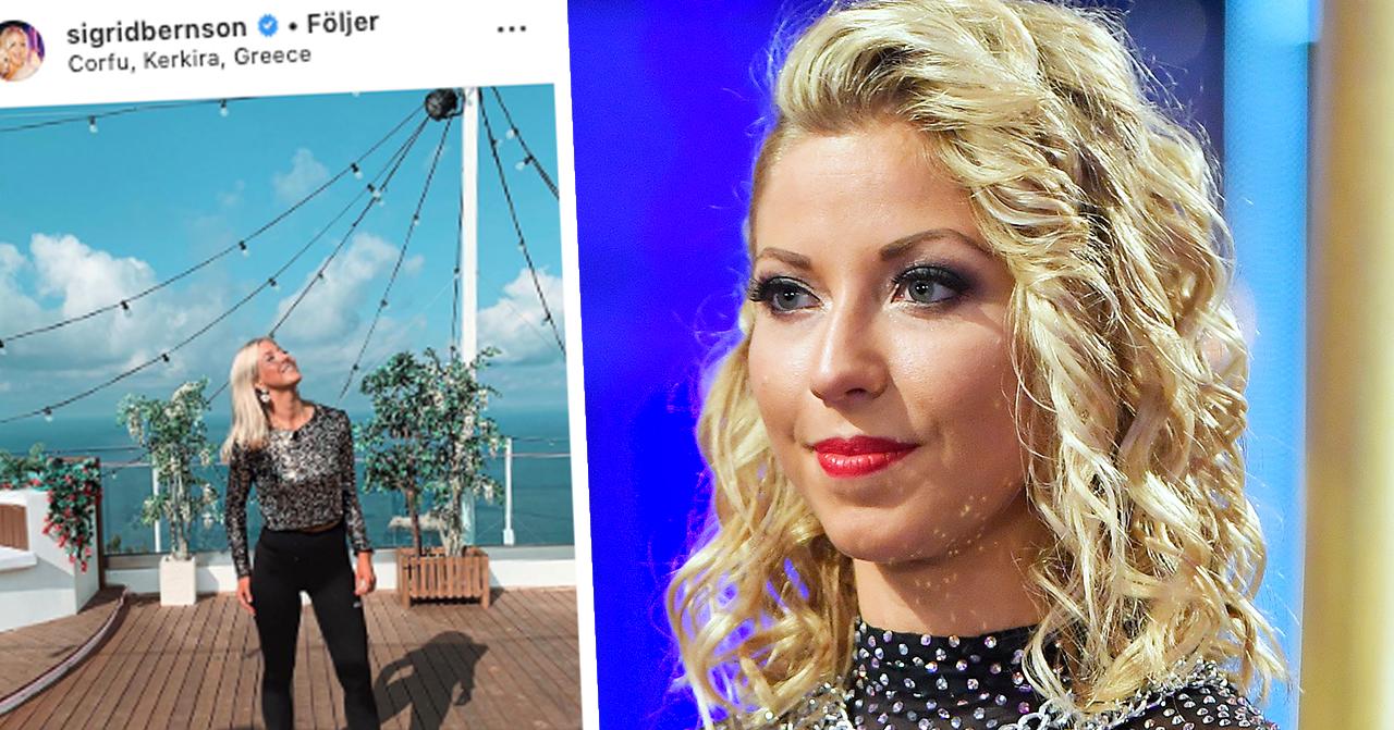 Sigrid Bernsons skräck under TV4-inspelningen – tvingades avbryta