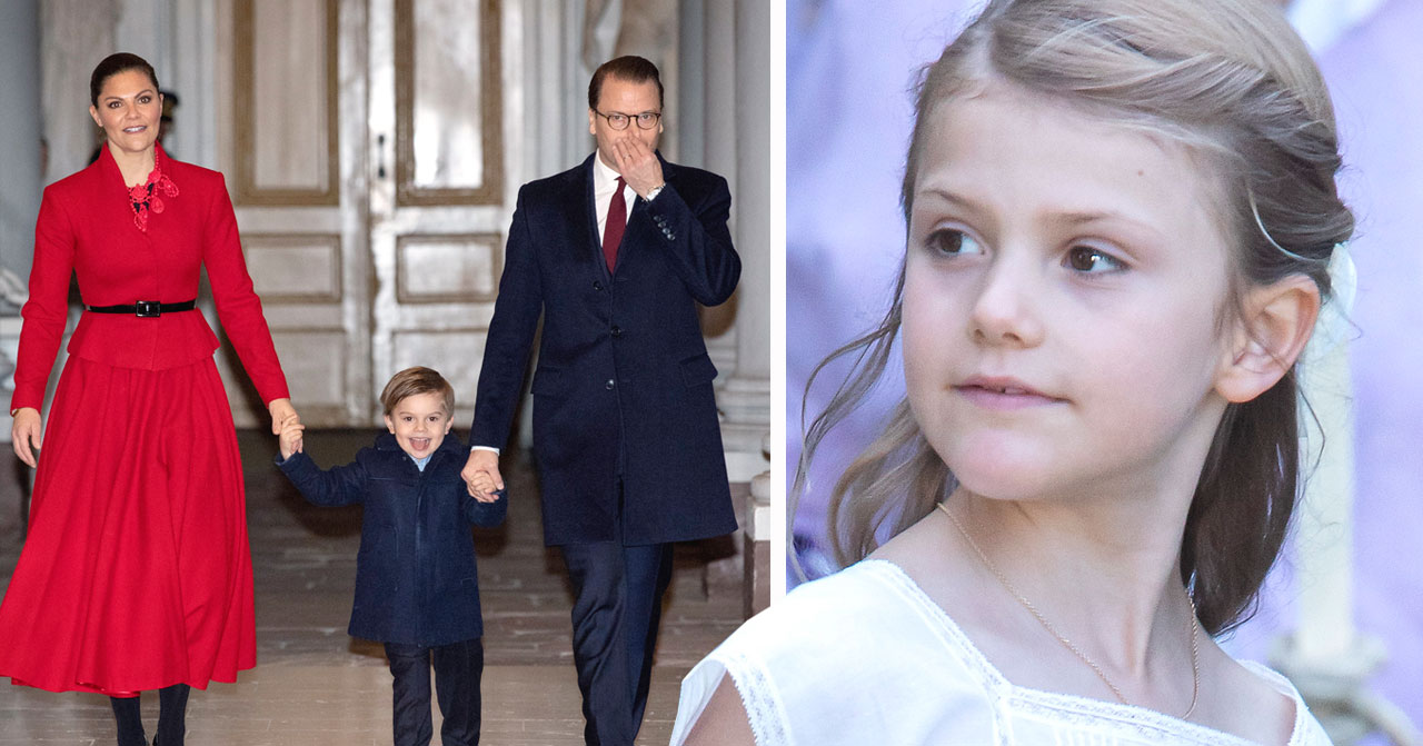 Prinsessan Estelle var ej med familjen