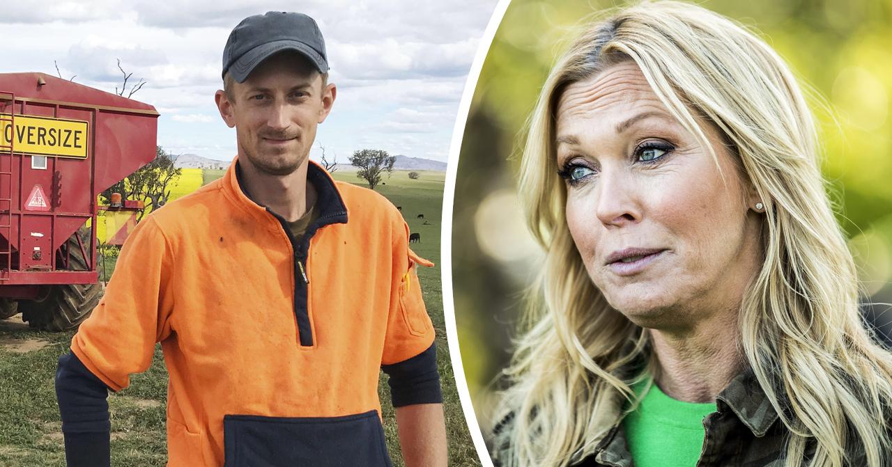 Linda Lindorff och bonden Andreas Johansson i Bonde söker fru – Jorden runt.