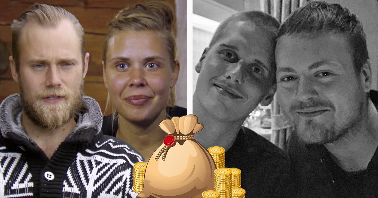 Jens Rönnqvist, Sofie Hodén, Fredrik Andersson och Simon Axelsson i Farmen 2020.