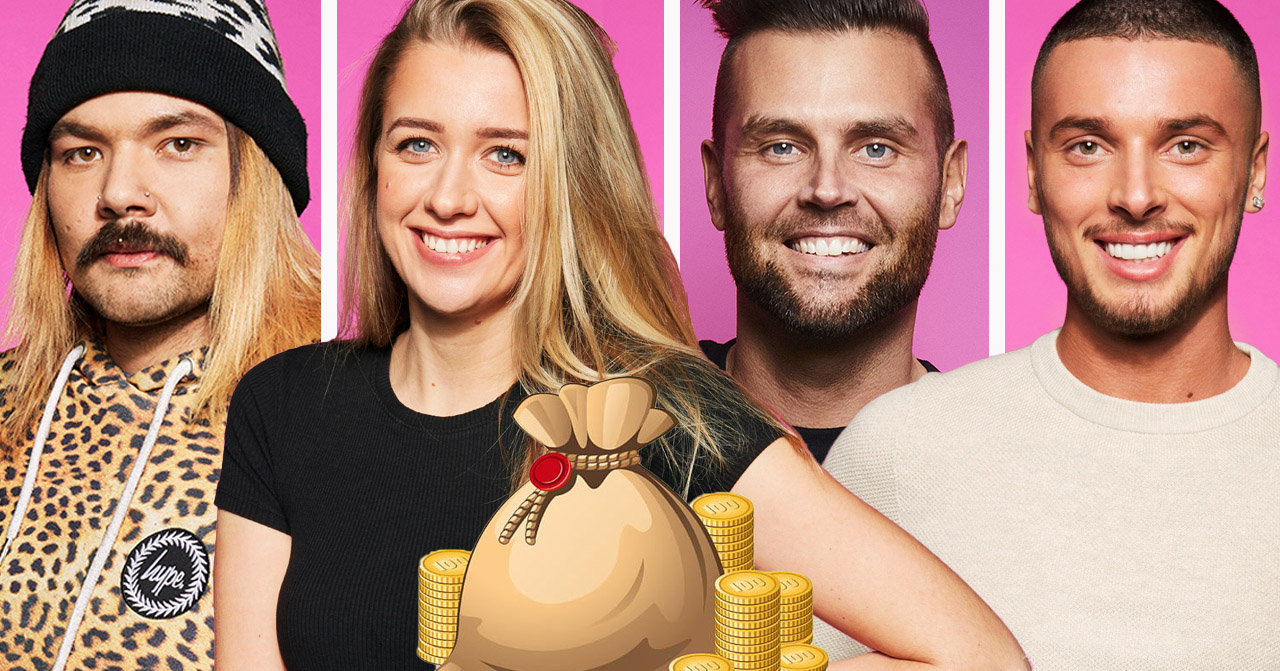 Sami Jacobsson, Jasmine Armstrong, Lennie Hansson och Mergim Feka i Big Brother 2020.